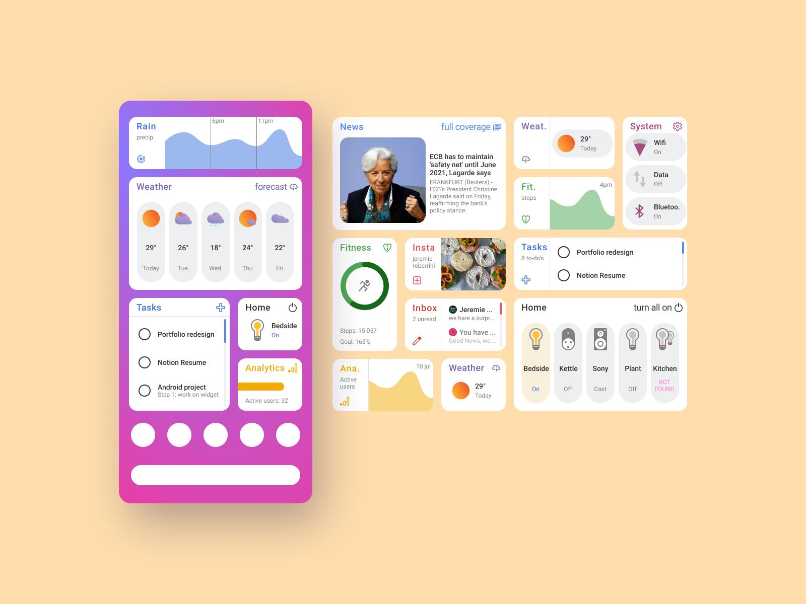 android widget demo