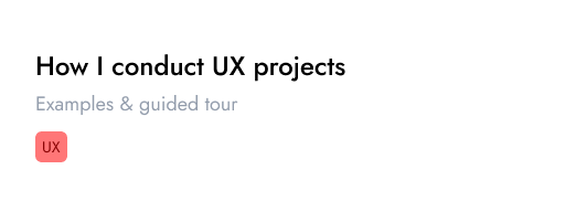 how i conduct ux project card